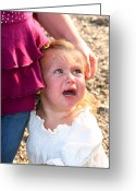 Tearful Greeting Cards - Heartbroken Little Girl Greeting Card by Susan Stevenson