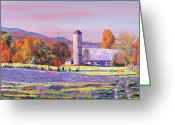 Most Painting Greeting Cards - Heartland Morning Greeting Card by David Lloyd Glover