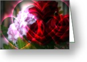 Kkphoto1 Greeting Cards - Hearts A Fire Greeting Card by Kay Novy