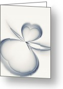 Illusion Illusions Greeting Cards - Hearts Greeting Card by Kristin Kreet