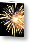 End Of The World Greeting Cards - Hearts of Fire Greeting Card by Leah Moore