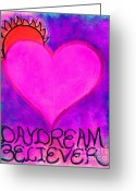 Daydream Mixed Media Greeting Cards - Heartww004 Greeting Card by Patricia Marie Amber Sorenson