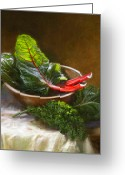 Greens Greeting Cards - Hearty Greens Greeting Card by Robert Papp