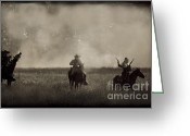 Muskets Greeting Cards - Heat of the Battle Greeting Card by Kim Henderson