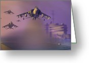 Jet Digital Art Greeting Cards - Heat Wave Greeting Card by Dieter Carlton
