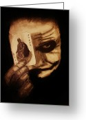 Batman Greeting Cards - Heath Ledger Tribute Greeting Card by Michael Cross