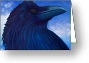 Birds Painting Greeting Cards - Heaven bound Greeting Card by Brian  Commerford