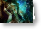 Angel Statue Greeting Cards - Heaven calls me...but Greeting Card by Gun Legler