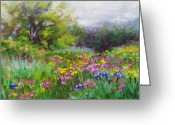 Landscape Painter Greeting Cards - Heaven Can Wait Greeting Card by Talya Johnson
