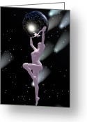 Woman Figure Greeting Cards - Heavenly Bodies Greeting Card by Sandra Bauser Digital Art