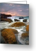 Jetty Greeting Cards - Heavenly Dawning Greeting Card by Mike  Dawson