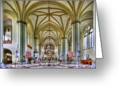 Church Greeting Cards - Heavenly Greeting Card by Evelina Kremsdorf