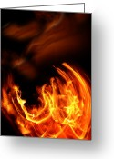 Fire Photo Greeting Cards - Heavenly Flame Greeting Card by Donna Blackhall