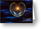Iphones Greeting Cards - Heavenly Heart Greeting Card by Saleires Art