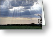 "\\\\\\\""boone County Photo Greeting Cards - Heavenly Light Greeting Card by Cricket Hackmann"
