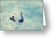 Surrealist Digital Art Greeting Cards - Heavenly Rest Greeting Card by Aimelle
