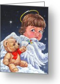 Innocent Greeting Cards - Heavenly Greeting Card by Richard De Wolfe