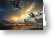 Melbourne Beach Greeting Cards - Heavenly Sunset Greeting Card by Cheryl Davis