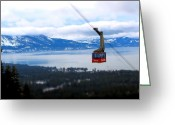 Skiing Greeting Cards - Heavenly Tram South Lake Tahoe Greeting Card by Brad Scott