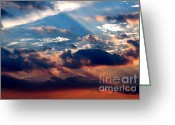 Gloaming Greeting Cards - Heavens Above 2 Greeting Card by Susan Stevenson