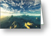 Meditative Greeting Cards - Heavens Breath 16 Greeting Card by Marsha Charlebois