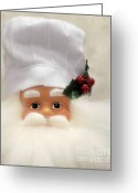 Santa Greeting Cards - Heavens Chef Greeting Card by Christine Till