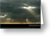 Beachy Greeting Cards - Heavens Gates Greeting Card by Donald Davis