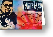 Sit-ins Greeting Cards - Heavy D Greeting Card by Tony B Conscious