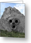 Eftalou Greeting Cards - Heavy Rock Scream Greeting Card by Eric Kempson