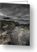 Black Point Greeting Cards - Heavy Sky Greeting Card by Andy Astbury