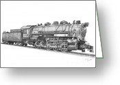 Coal Burner Greeting Cards - Heavy Steam Switcher 0-10-0 Greeting Card by Calvert Koerber