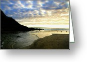 Clouds Posters Greeting Cards - Heceta Head at Dusk Greeting Card by Bonnie Bruno