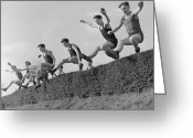 18-19 Years Greeting Cards - Hedge Hopping Greeting Card by John Drysdale