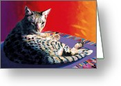 Abstract Realism Painting Greeting Cards - Heidi Greeting Card by Bob Coonts