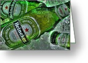 Convention Photography Atlanta Greeting Cards - Heineken on Ice Greeting Card by Corky Willis Atlanta Photography