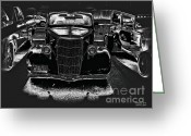 Silver And Black Greeting Cards - Heinz 57 Hot Rod Greeting Card by Jayne Logan