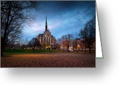 Mellon Arena Greeting Cards - Heinz chapel Greeting Card by Emmanuel Panagiotakis