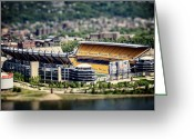Pittsburgh Steelers Greeting Cards - Heinz Field Pittsburgh Steelers Greeting Card by Lisa Russo