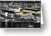 Pittsburgh Greeting Cards - Heinz Field Greeting Card by Scott  Wyatt