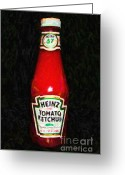 Tomato Digital Art Greeting Cards - Heinz Tomato Ketchup Greeting Card by Wingsdomain Art and Photography