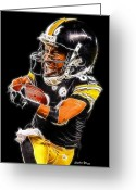 Pittsburgh Steelers Greeting Cards - Heinz Ward Greeting Card by Stephen Younts