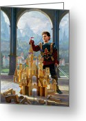 Knight Greeting Cards - Heir to the Kingdom Greeting Card by Greg Olsen