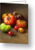 Cooks Illustrated Painting Greeting Cards - Heirloom Tomatoes Greeting Card by Robert Papp