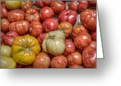 Food And Beverage Greeting Cards - Heirloom Tomatoes Greeting Card by Scott Norris