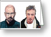 Aaron Greeting Cards - Heisenberg Team Greeting Card by Tom Roderick