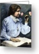 20th Century Photo Greeting Cards - Helen Adams Keller Greeting Card by Granger
