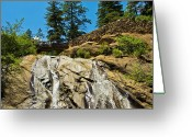Colorado Mixed Media Greeting Cards - Helen Hunt Falls Greeting Card by Angelina Vick