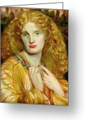 Troy Greeting Cards - Helen of Troy Greeting Card by Dante Charles Gabriel Rossetti