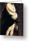 Rubens Painting Greeting Cards - Helena Fourment in a Fur Wrap Greeting Card by Rubens