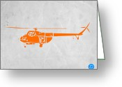 Boom Greeting Cards - Helicopter Greeting Card by Irina  March